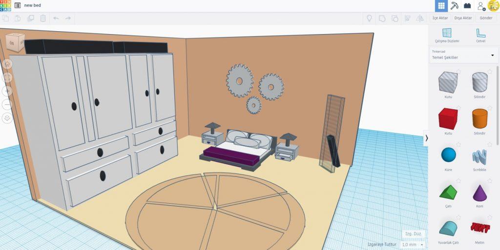 Tinkercad 3D Tasarım Dersi Müfredatı Online Bilisim Egitim Portalı